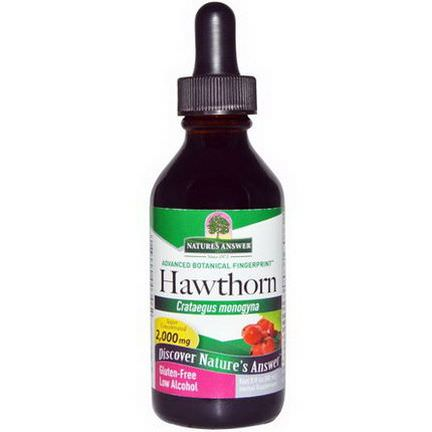 Nature's Answer, Hawthorn, Low Alcohol, 2,000mg 60ml