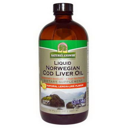 Nature's Answer, Liquid Norwegian Cod Liver Oil, Natural Lemon-Lime Flavor 480ml