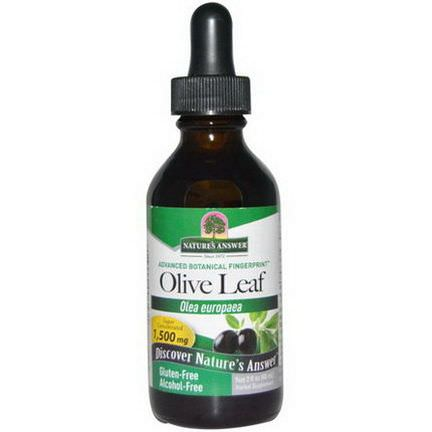 Nature's Answer, Olive Leaf, Alcohol-Free, 1,500mg 60ml