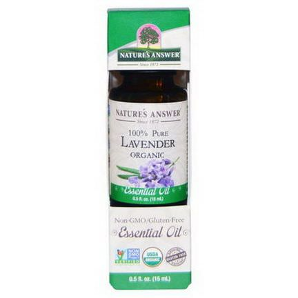 Nature's Answer, Organic Essential Oil, 100% Pure Lavender 15ml