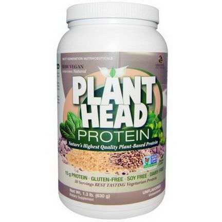 Nature's Answer, Plant Head Protein, Unflavored 630g