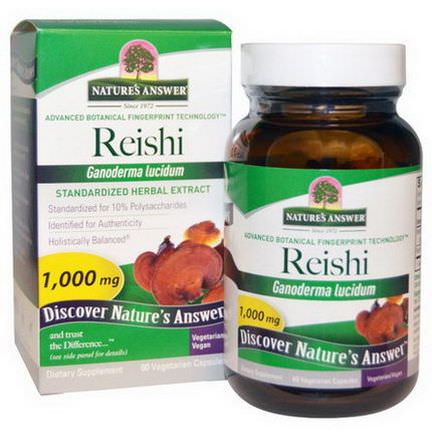 Nature's Answer, Reishi, Standardized Herbal Extract, 1,000mg, 60 Veggie Caps