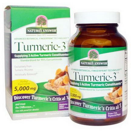 Nature's Answer, Turmeric-3, 5,000mg, 90 Veggie Caps