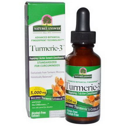 Nature's Answer, Turmeric-3, Alcohol-Free, 5,000mg 30ml