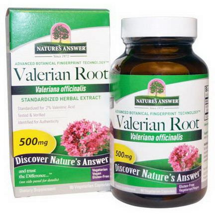Nature's Answer, Valerian Root, 500mg, 90 Veggie Caps