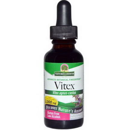 Nature's Answer, Vitex, Low Alcohol, 2,000mg 30ml