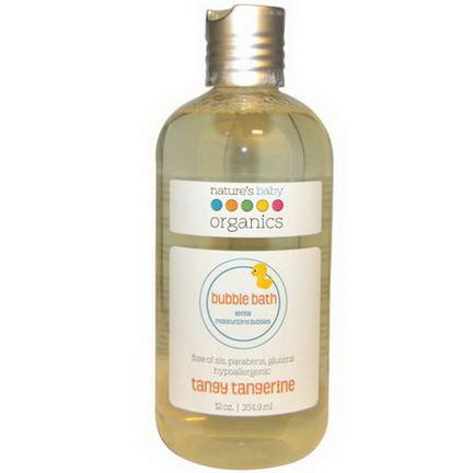 Nature's Baby Organics, Bubble Bath, Gentle Moisturizing Bubbles, Tangy Tangerine 354.9ml