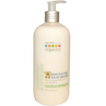 Nature's Baby Organics, Conditioner&Detangler, Coconut Pineapple 473.2ml