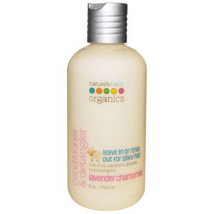 Nature's Baby Organics, Conditioner&Detangler, Lavender Chamomile 236.5ml