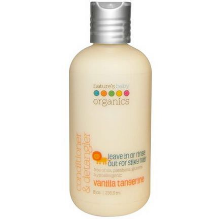 Nature's Baby Organics, Conditioner&Detangler, Vanilla Tangerine 236.5ml