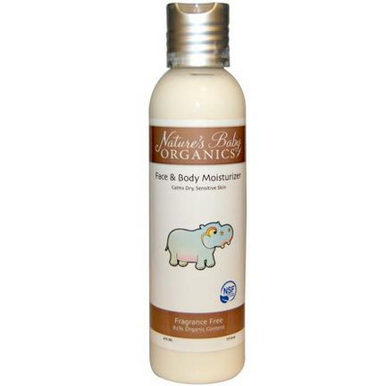 Nature's Baby Organics, Face&Body Moisturizer, Fragrance Free 177.4ml