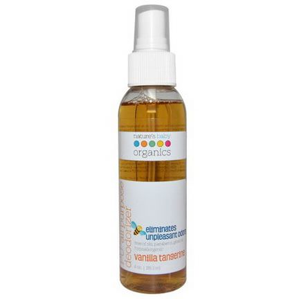 Nature's Baby Organics, PU All Purpose Deodorizer, Vanilla Tangerine 118.3ml
