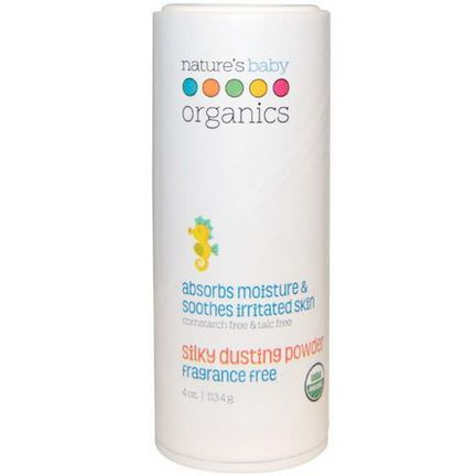 Nature's Baby Organics, Silky Dusting Powder, Fragrance Free 113.4g