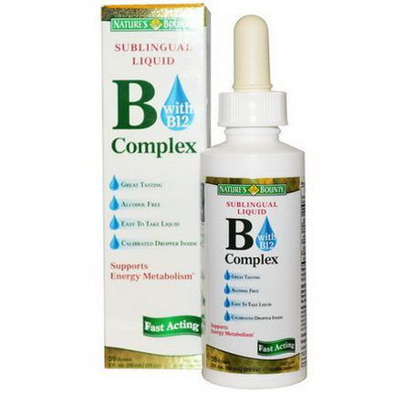 Nature's Bounty, B-Complex with B12, Sublingual Liquid 59ml 59 cc