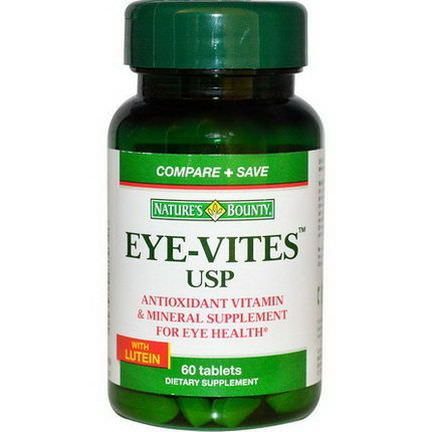 Nature's Bounty, Eye-Vites USP with Lutein, 60 Tablets