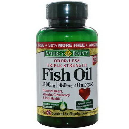 Nature's Bounty, Fish Oil, 1400mg, 39 Coated Softgels