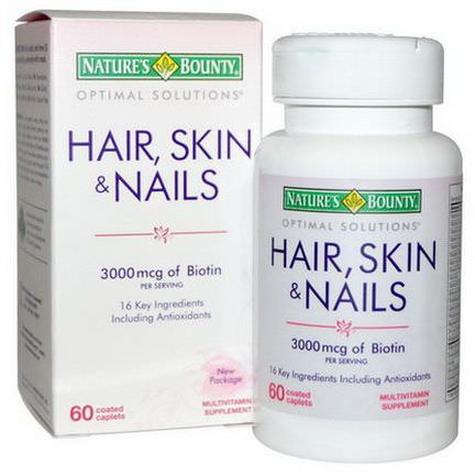 Nature's Bounty, Hair, Skin&Nails, 60 Coated Caplets