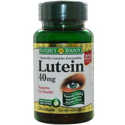 Nature's Bounty, Lutein, 40mg, 30 Softgels