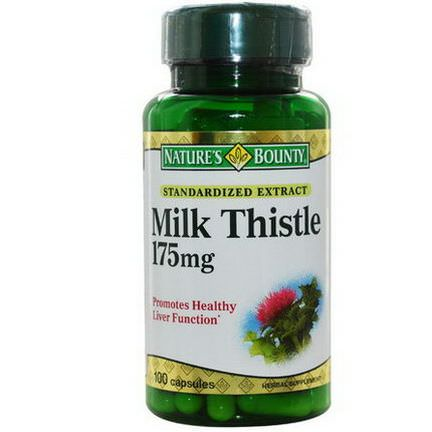 Nature's Bounty, Milk Thistle, 175mg, 100 Capsules