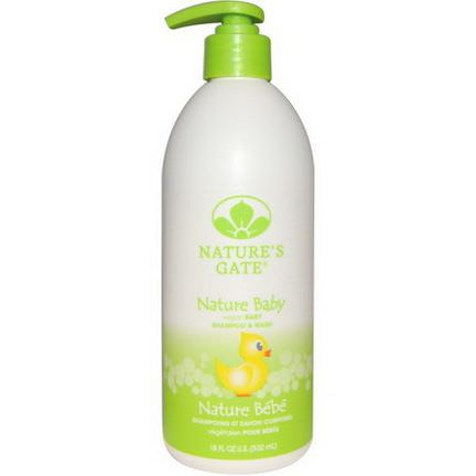 Nature's Gate, Nature Baby, Baby Shampoo&Wash 532ml