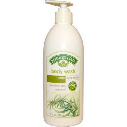 Nature's Gate, Body Wash, Velvet Moisture, Hemp 532ml