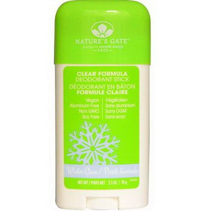 Nature's Gate, Clear Formula Deodorant Stick, Winter Clean 70g