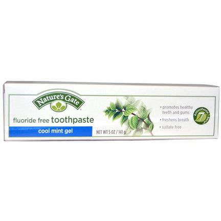 Nature's Gate, Cool Mint Gel Toothpaste, Fluoride Free 141g
