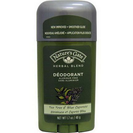 Nature's Gate, Deodorant, Herbal Blend, Tea Tree&Blue Cypress 48g