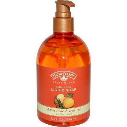 Nature's Gate, Fruit Blend, Liquid Soap, Asian Pear&Red Tea 354ml