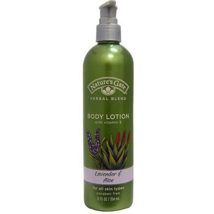 Nature's Gate, Herbal Blend Body Lotion, Lavender&Aloe 354ml