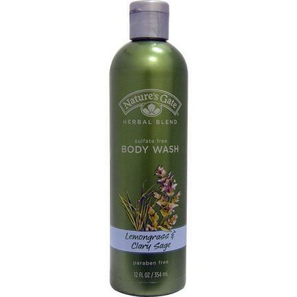 Nature's Gate, Herbal Blend, Body Wash, Lemongrass&Clary Sage 354ml