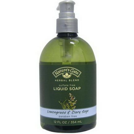 Nature's Gate, Herbal Blend, Liquid Soap, Lemongrass&Clary Sage 354ml