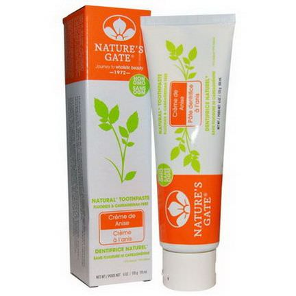 Nature's Gate, Natural Toothpaste, Creme de Anise 170g