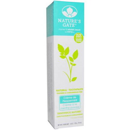 Nature's Gate, Natural Toothpaste, Creme de Peppermint 170g