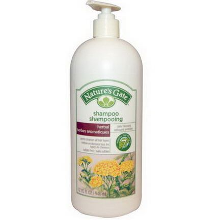 Nature's Gate, Shampoo, Daily Cleansing, Herbal 946ml