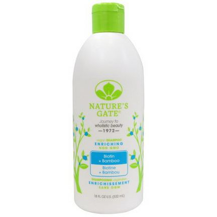 Nature's Gate, Shampoo, Enriching, Biotin Bamboo 532ml