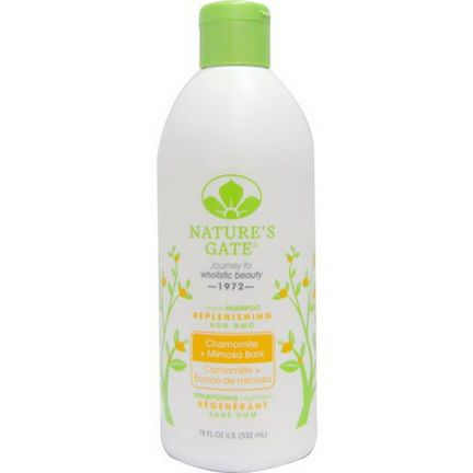 Nature's Gate, Shampoo, Replenishing, Chamomile Mimosa Bark 532ml
