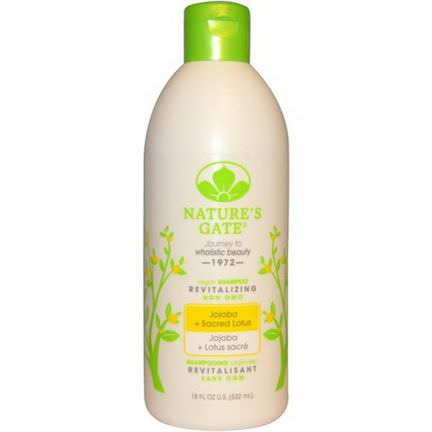 Nature's Gate, Shampoo, Revitalizing, Jojoba Sacred Lotus 532ml