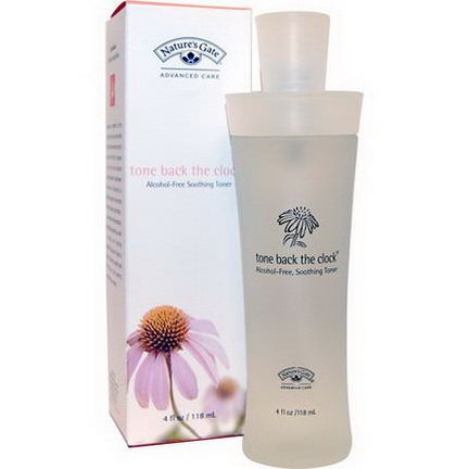 Nature's Gate, Tone Back the Clock, Alcohol-Free Soothing Toner 118ml