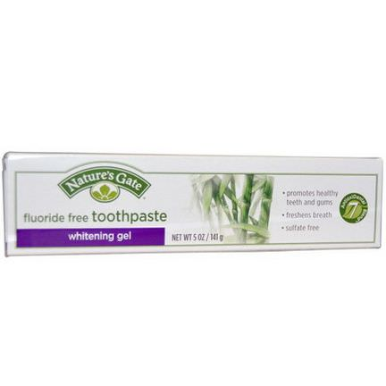 Nature's Gate, Whitening Gel Toothpaste, Fluoride Free 141g