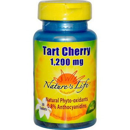 Nature's Life, Tart Cherry, 1,200mg, 30 Tablets