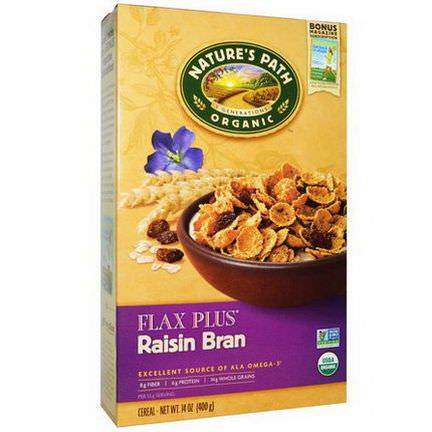 Nature's Path, Organic, Flax Plus Cereal, Raisin Bran 400g
