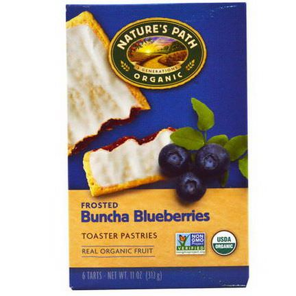 Nature's Path, Organic Frosted Toaster Pastries, Buncha Blueberries, 6 Tarts, 52g Each