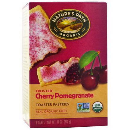 Nature's Path, Organic, Frosted Toaster Pastries, Cherry Pomegranate, 6 Tarts, 52g Each