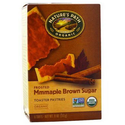 Nature's Path, Organic, Frosted Toaster Pastries, Maple Brown Sugar, 6 Tarts, 52g Each