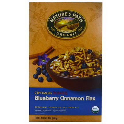 Nature's Path, Organic Optimum Power Cereal, Blueberry Cinnamon Flax 400g