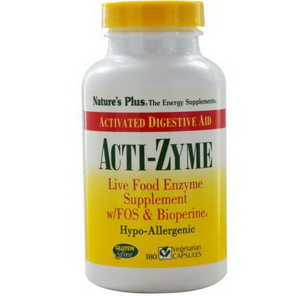 Nature's Plus, Acti-Zyme, 180 Veggie Caps