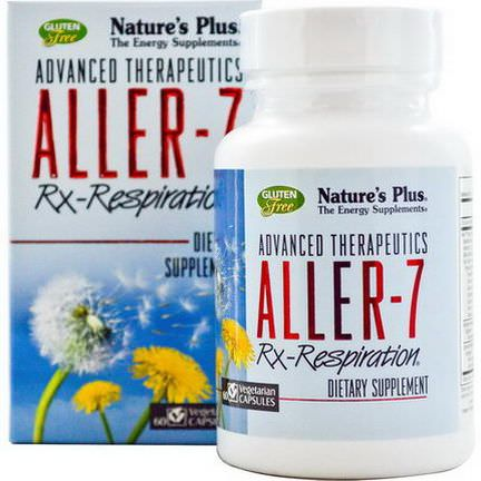 Nature's Plus, Advanced Therapeutics, Aller-7, Rx Respiration, 60 Veggie Caps