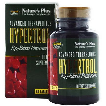 Nature's Plus, Advanced Therapeutics, Hypertrol RX Blood Pressure, 60 Tablets