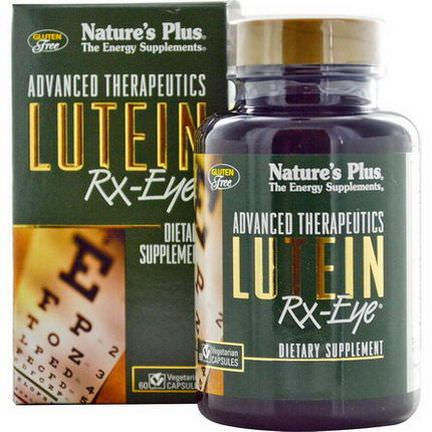 Nature's Plus, Advanced Therapeutics, Lutein RX-Eye, 60 Veggie Caps